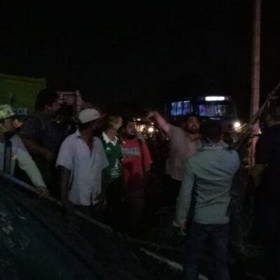 CANCÚN, AL BORDE DE OTRA CRISIS POR LA BASURA: Protestan trabajadores de empresa recolectora; no les han pagado y podría derivar en un paro laboral
