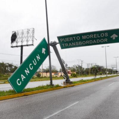 Reporta Laura Fernández saldo blanco en Puerto Morelos luego del paso del huracán 'Delta'